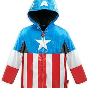 Disney Avengers Captain America Rain Jacket 7/8